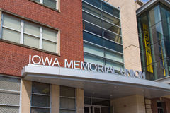 Iowa Memorial Union. IOWA CITY, IA/USA - AUGUST 7, 2015: Iowa Memorial Union at the University of Iowa. The University of Iowa is a flagship public research Royalty Free Stock Photography