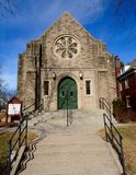 Iowa miasta kościół Zdjęcia Royalty Free