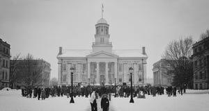 Iowa miasta Stary Capitol 2018 zdjęcia royalty free