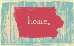 Iowa nostalgic rustic vintage state vector sign. Rustic vintage style U.S. state poster in layered easy-editable vector format Stock Photos