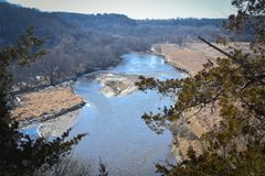 Iowa River Overlook, Decorah, Iowa - Phelps Park Stock Images