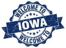 Iowa round ribbon seal Stock Images