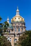 Iowa stanu Capitol budynek, Des moines Zdjęcia Royalty Free