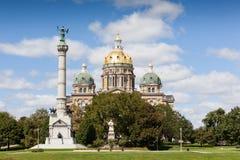 Iowa stanu Capitol budynek, Des moines Obrazy Royalty Free