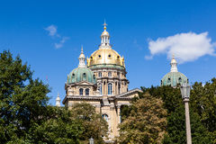 Iowa stanu Capitol budynek, Des moines Fotografia Royalty Free