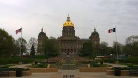 Iowa stanu dom Chmurzący Zdjęcia Royalty Free
