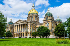 Iowa State Capital building. Des Moines Iowa State Capital building with ornate architecture Royalty Free Stock Images