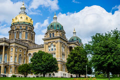 Iowa State Capital building Stock Image
