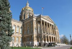 Iowa State Capitol. Building in Des Moines IOwa Royalty Free Stock Image