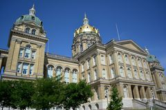 Iowa State Capitol Building in Des Moines, Iowa Royalty Free Stock Photography