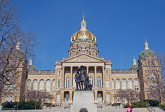 Iowa State Capitol Building. Horizontal. Stock Photography