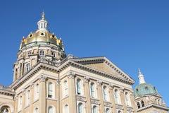 Iowa State Capitol-Des Moines, Iowa. View of the east side of the Iowa State Capitol building in Des Moines, Iowa Stock Photo