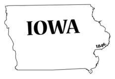 Iowa State and Date Stock Photo