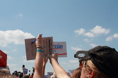 Iowa State Fair: Crowd welcomes Bernie Sanders Stock Images