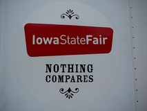 Iowa State Fair Signage. States that `Nothing Compares` and a very true statement. One of the best State Fairs in the country vector illustration