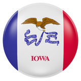 Iowa State flag button Stock Images