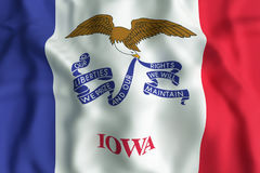 Iowa State flag. 3d rendering of an Iowa State flag Stock Photo