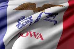 Iowa State flag Stock Photos