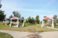 Iowa state  gazebos rest area Stock Photos