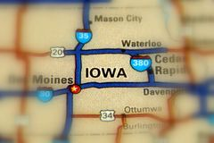 Iowa -  United States US. Iowa, a state in the Midwestern United States Royalty Free Stock Images