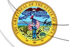 Iowa state seal, USA. Stock Photos
