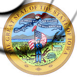 Iowa state seal, USA. Royalty Free Stock Images