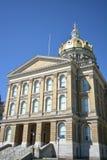 Iowa statKapitolium i Des Moines Iowa Royaltyfria Foton