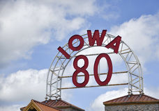 Iowa 80 tecken Royaltyfria Foton
