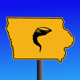 Iowa tornado warning sign Royalty Free Stock Images