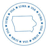 Iowa vector map sticker. Stock Photo