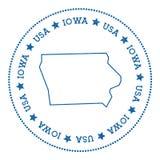 Iowa vector map sticker. Stock Photography
