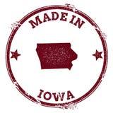 Iowa vector seal. Royalty Free Stock Photo