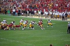 Iowa versus de Universiteitsvoetbal van de Staat van Iowa Royalty-vrije Stock Afbeelding