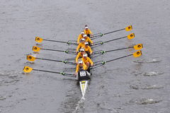 Iowa Women's Crew races in the Head of Charles Regatta Women's Master Eights Stock Photos