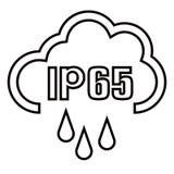 IP65保护证明标准象 水和尘土或者固体抗性被保护的标志 r EPS10 向量例证