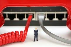 IP-Fernsprechen oder Telekommunikationskonzept Stockfoto