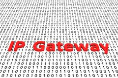 IP Gateway. In the form of binary code, 3D illustration royalty free illustration