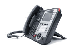 IP phone close up isolated Royalty Free Stock Images