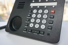 IP Phone. Close up IP phone with numeric keypad Royalty Free Stock Photo