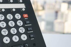 IP phone. Close up IP phone and numeric keypad Royalty Free Stock Photography