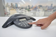 IP Phone for conference stock photos
