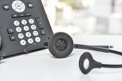 IP Phone and headset device Royalty Free Stock Photos