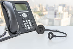 IP Phone and headset device stock photos