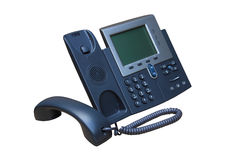 IP Phone or Net Phone. IP telephone or net telephone replesentative of IP phone technology stock image