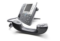 IP Phone with the receiever on the front royalty free stock photos