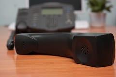 Ip-phone receiver. Close-up Stock Photos