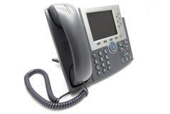 IP-Telefon-Ansicht von der Seite Stockbild