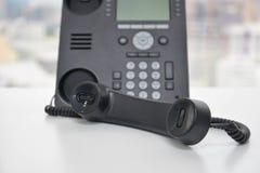 IP telefon - Biurowy telefon Zdjęcie Stock