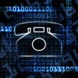 ip-telefon för binär kod stock illustrationer