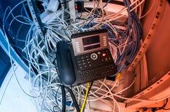 Ip-telefon i nätverksrum Royaltyfri Bild